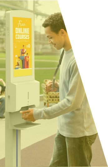 Digital Hand Sanitising Screen